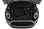 Car stock 2019 Mini MINI One 3 Door Hatchback engine high angle detail view