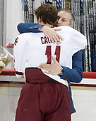 Chris Calnan (BC - 11), Jay Calnan - The visiting University of Vermont Catamounts tied the Boston College Eagles 2-2 on Saturday, February 18, 2017, Boston College's senior night at Kelley Rink in Conte Forum in Chestnut Hill, Massachusetts.Vermont and BC tied 2-2 on Saturday, February 18, 2017, Boston College's senior night at Kelley Rink in Conte Forum in Chestnut Hill, Massachusetts.