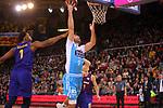 League ACB-ENDESA 2018/2019. Game: 14.<br /> FC Barcelona Lassa vs Monbus Obradoiro: 79-73.<br /> Kevin Seraphin vs Nacho Llovet.