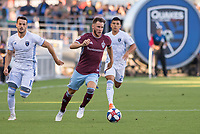 SAN JOSÉ CA - JULY 27: Keegan Rosenberry #7 during a Major League Soccer (MLS) match between the San Jose Earthquakes and the Colorado Rapids on July 27, 2019 at Avaya Stadium in San José, California.