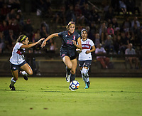 STANFORD, CA - August 10, 2018: Averie Collins at Laird Q. Cagan Stadium. The Stanford Cardinal defeated the Fresno State Bulldogs 4-0.