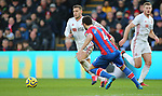 Sheffield United's Billy Sharp and Crystal Palace's Luka Milivojevic during the Premier League match at Selhurst Park, London. Picture date: 1st February 2020. Picture credit should read: Paul Terry/Sportimage