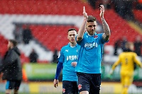Ashley Eastham of Fleetwood Town applauds the supporters during the Sky Bet League 1 match between Charlton Athletic and Fleetwood Town at The Valley, London, England on 17 March 2018. Photo by Carlton Myrie.