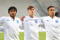 Reece James, Tom Pearce and Marcus Tavernier of England during Chile Under-21 vs England Under-20, Tournoi Maurice Revello Football at Stade Parsemain on 7th June 2019
