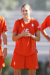 26 October 2008: Clemson's Molly Franklin. The Duke University Blue Devils defeated the Clemson University Tigers 6-0 at Koskinen Stadium in Durham, North Carolina in an NCAA Division I Women's college soccer game.