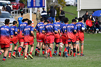 Hurricanes U15 Rugby - Kelston Boys' High School v St Peter's College at St. Patrick's College, Silverstream, Upper Hutt, New Zealand on Saturday 7 September 2019. <br /> Photo by Masanori Udagawa. <br /> www.photowellington.photoshelter.com