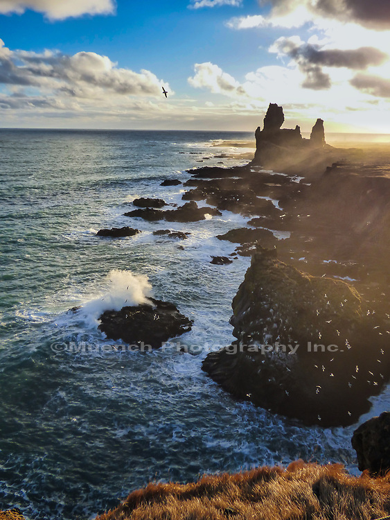Londranger SeaStacks,Snaefellsnes National Park,Iceland