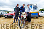 Dermot and Maurice Begley (Dingle) and Fionn Dean (Camp) with their 1951 James Cadet motorbike at the Kilflynn Vintage Rally on Sunday.