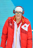 July 28, 2012: YANG SUN of China on deck to compete in men's 400m Freestyle final at the Aquatics Center on day one of 2012 Olympic Games in London, United Kingdom.