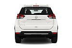 Straight rear view of 2017 Nissan Rogue S 5 Door SUV Rear View  stock images