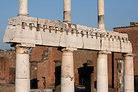 Colonnade around the Forum, Pompeii, 2nd century BC, showing two-storey colonnaded porticoes with Doric columns