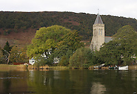 General view of Lake of Menteith and  Port of Menteith Church