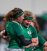 1st February 2019, Energia Park, Dublin, Ireland; Womens Six Nations rugby, Ireland versus England; Nichola Fryday (Ireland) and Emma Hooban (Ireland) celebrate their try