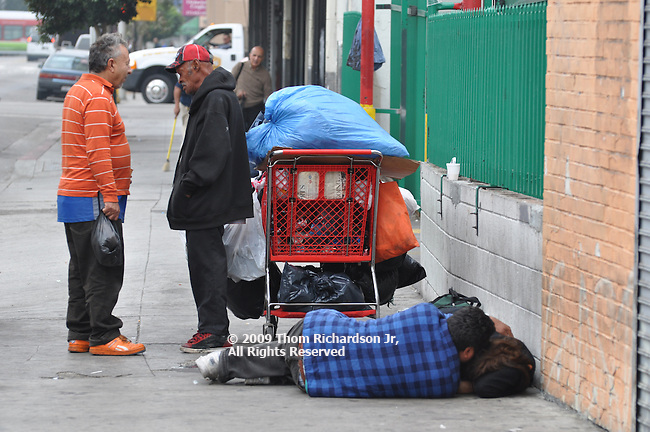 First Interactions of the day. Couple sleeping on LA's Skid Row