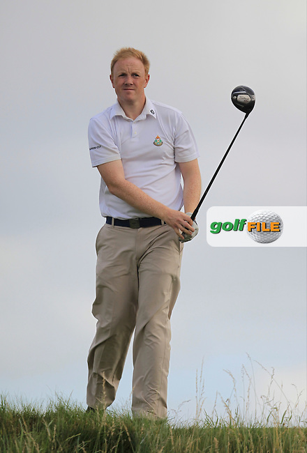 Bryan McSweeney (The Royal Dublin) on the 6th tee during the South of Ireland Amateur Open Championship Quarter Finals at Lahinch Golf Club  30th July 2013 <br /> Picture:  Thos Caffrey / www.golffile.ie