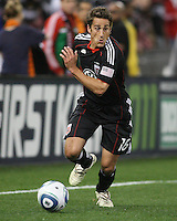 Josh Wolfe#16 of D.C. United during the opening match of the 2011 season against the Columbus Crew at RFK Stadium, in Washington D.C. on March 19 2011.D.C. United won 3-1.