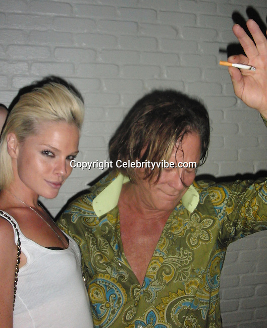"**EXCLUSIVE**.Mickey Rourke with Kate Nauta of ""Tranporters"" Movie..2009 VMA Awards Post Party Hosted by Unik..Cipriani Downtown..New York, NY, USA..Sunday, September 13, 2009. .Photo By Celebrityvibe.com.To license this image please call (212) 410 5354; or Email: celebrityvibe@gmail.com ;.website: www.celebrityvibe.com"