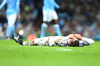 Gylfi Sigurdsson looks dejected at the end of the Barclays Premier League Match between Manchester City and Swansea City played at the Etihad Stadium, Manchester on 12th December 2015
