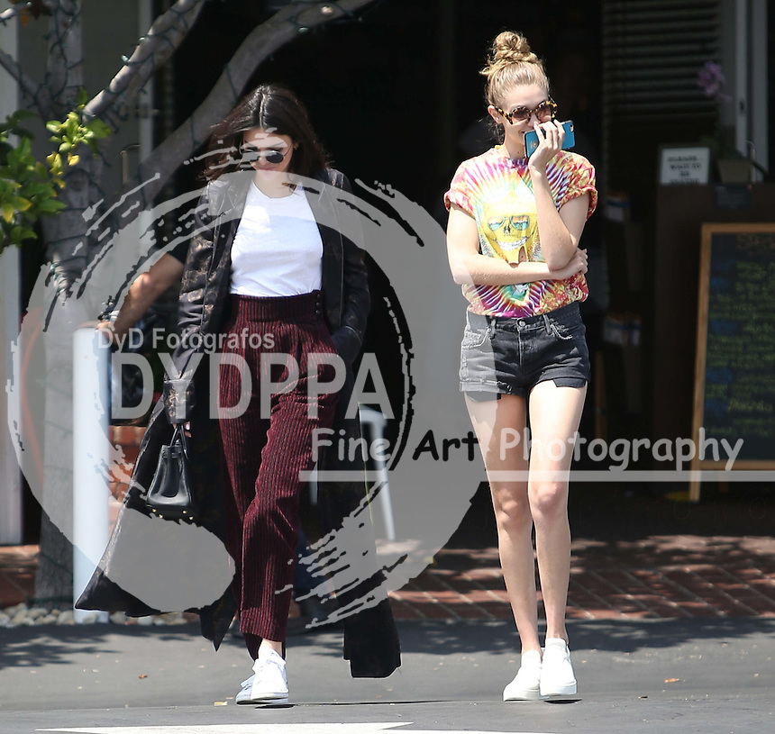 **ALL ROUND PICTURES FROM SOLARPIX.COM**<br /> **SOLARPIX RIGHTS - UK, AUSTRALIA, DENMARK, PORTUGAL, S. AFRICA, SPAIN &amp; DUBAI (U.A.E) &amp; ASIA (EXCLUDING JAPAN) ONLY**<br /> Kendall Jenner and Gigi Hadid Sighted in Los Angeles on June 1, 2016 - Street - Los Angeles <br /> This pic:  Kendall Jenner and Gigi Hadid<br /> **U.K ONLINE USAGE &pound;25 PER PIC**<br /> JOB REF: 19314  PHZ/STPR  DATE: 01.06.16<br /> **MUST CREDIT SOLARPIX.COM AS CONDITION OF PUBLICATION**<br /> **CALL US ON: +34 952 811 768**