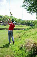 Jon Rahm (ESP) hits from the tall grass on 3 during round 7 of the World Golf Championships, Dell Technologies Match Play, Austin Country Club, Austin, Texas, USA. 3/26/2017.<br /> Picture: Golffile | Ken Murray<br /> <br /> <br /> All photo usage must carry mandatory copyright credit (&copy; Golffile | Ken Murray)