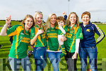 Siobhan Collins, Mairead O'Mahony, Sarah Collins, Saoirse Collins, Orla Young and Geraldine Collins, Kilmoyley fans pictured at the County Senior Hurling final on Sunday last.