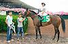 Vince's Valentina winning at Delaware Park on 7/8/15