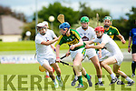 Kerry's Conor O'Keeffe gets away from the Kildare pack  at The Electric Ireland All-Ireland B Championship quarter final Kerry V Kildare at Austin Stack Park on Saturday