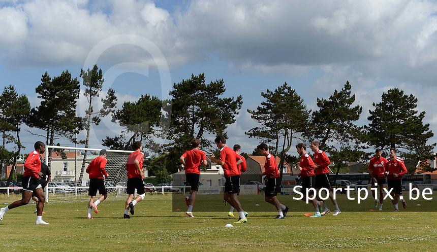 KV Kortrijk Stage Berck sur Mer : training<br /> foto VDB / BART VANDENBROUCKE