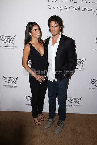 HOLLYWOOD, CA - MAY 07: Ian Somerhalder, Nikki Reed attends The Humane Society of the United States' to the Rescue Gala at Paramount Studios on May 7, 2016 in Hollywood, California. Credit: Parisa/MediaPunch.