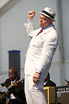 Deacon John performs during the New Orleans Jazz & Heritage Festival in New Orleans, LA.