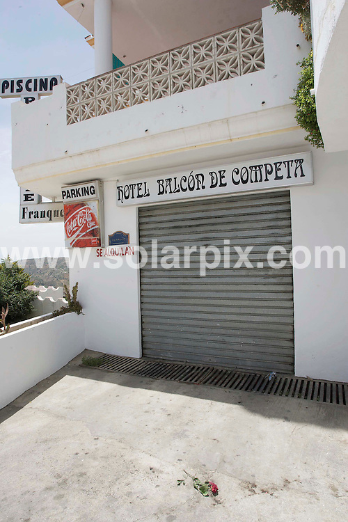 "**ALL ROUND EXCLUSIVE PICTURES FROM SOLARPIX.COM**.**WORLDWIDE SYNDICATION RIGHTS**.British holiday maker Stephen Mallom was involved in a brawl with some local lads after leaving the ""La Estrealla late night bar in the Spanish mountain Village of ""Competa"" near Malaga. The fight ended in him falling from a 15ft high terrace to a Hotel garage. entrance below..Stephen is now in a Coma at the Carlos Haya Hospital in Malaga...This pic:Terrace balcony above garage entrance where Stephen fell during the fight...JOB REF: 9223       AB1       DATE:13.06.09.**MUST CREDIT SOLARPIX.COM OR DOUBLE FEE WILL BE CHARGED**.**ONLINE USAGE FEE GBP 50.00 PER PICTURE - NOTIFICATION OF USAGE TO PHOTO @ SOLARPIX.COM**.**CALL SOLARPIX : +34 952 811 768 or LOW RATE FROM UK 0844 617 7637**"