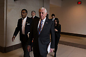 United States House Minority Whip Steny Hoyer (Democrat of Maryland) walks with other members of the Democratic Caucus on their way to a caucus meeting at the United States Capitol on the first morning of a government shutdown as congress looks to end the political deadlock and fund the government on January 20th, 2018 in Washington, D.C. <br /> Credit: Alex Edelman / CNP
