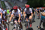 The peloton including Alberto Contador (ESP) and John Degenkolb (GER) Trek-Segafredo climb Eau Rouge on the famous Spa-Francorchamps Motor Circuit during Stage 3 of the 104th edition of the Tour de France 2017, running 212.5km from Verviers, Belgium to Longwy, France. 3rd July 2017.<br /> Picture: Eoin Clarke | Cyclefile<br /> <br /> All photos usage must carry mandatory copyright credit (&copy; Cyclefile | Eoin Clarke)