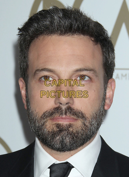 Ben Affleck.At the 24th Annual Producers Guild Awards held at the Beverly Hilton Hotel, Beverly Hills, California, USA,.26th January 2013..PGAs PGA arrivals headshot portrait black white shirt tie suit beard facial hair  .CAP/ADM/RE.©Russ Elliot/AdMedia/Capital Pictures.