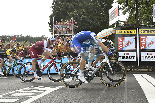 Marcel Kittel (GER) Quick-Step Floors wins Stage 7 of the 104th edition of the Tour de France 2017, running 213.5km from Troyes to Nuits-Saint-Georges, France. 7th July 2017.<br /> Picture: ASO/Bruno Bade | Cyclefile<br /> <br /> <br /> All photos usage must carry mandatory copyright credit (&copy; Cyclefile | ASO/Bruno Bade)