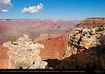 East View over Cedar Ridge from Yavapai Point, Walhalla Plateau, Wotan's Throne and Vishnu Temple, South Rim, Grand Canyon, Arizona
