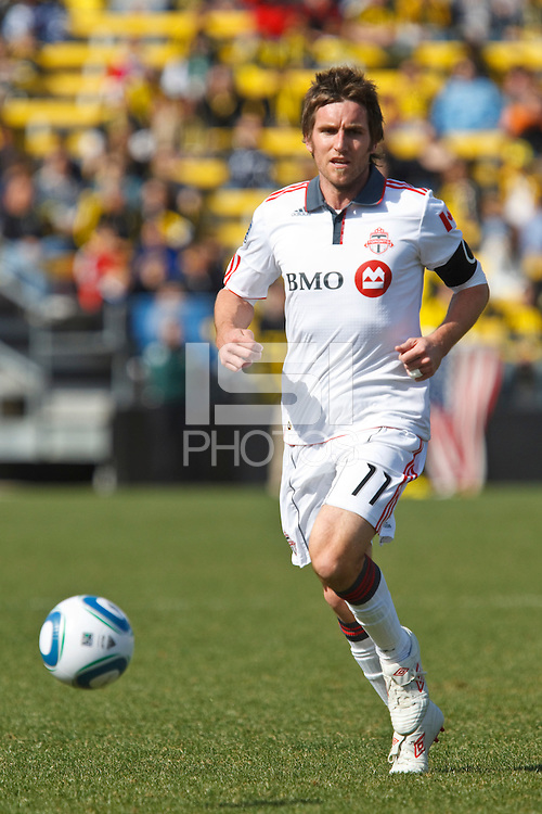 27 MARCH 2010:  Jim Brennan of Toronto FC (11) during the Toronto FC at Columbus Crew MLS game in Columbus, Ohio on March 27, 2010.
