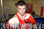 THROWING PUNCHES: Ballybunion boxer Brian Wall who won his third Munster Boxing Championships title last week.