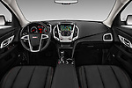 Stock photo of straight dashboard view of 2017 GMC Terrain SLT 5 Door SUV Dashboard