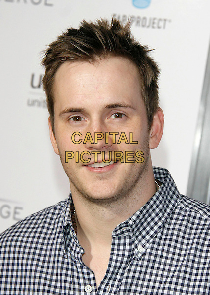 ROBERT HOFFMAN.The Sony Cierge and The Richie-Madden Children's Foundation Fundraiser for Unicef's Tap Project held at MyHouse in Hollywood, California, USA..March 23rd, 2009.headshot portrait white black checked stubble facial hair gingham.CAP/DVS.©Debbie VanStory/Capital Pictures.