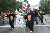 Nonprofit group Friends of Bonobos march during the N.C. Pride Parade in Durham on Saturday, Sept. 29, 2012, at the corner of Main and Broad streets.