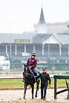 November 1, 2018: Oisin Murphy, aboard Soldier's Call (GB), trained by Archie Watson, exercises in preparation for the Breeders' Cup Juvenile Turf Sprint at Churchill Downs on November 1, 2018 in Louisville, Kentucky. Alex Evers/Eclipse Sportswire/CSM