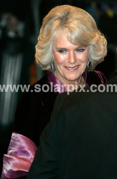 **ALL ROUND PICTURES FROM SOLARPIX.COM**.WORLDWIDE SYNDICATION RIGHTS EXCLUDING - .UK NEWSPAPER PUBLICATION - UK MAGAZINE PUBLICATION ONLY AND NO PUBLICATION IN FRANCE, SCANDINAVIA, AUSTRALIA AND GERMANY** .Camilla , Duchess Of Cornwall attends the Royal Variety Performance at the Coliseum in London this evening..Date: 04/12/2006 Job Ref: 3134 -SFE.**MUST CREDIT SOLARPIX.COM OR DOUBLE FEE WILL BE CHARGED**