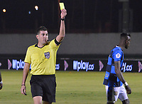 TUNJA – COLOMBIA, 04-02-2020: Ricardo Garcia, árbitro, durante partido por la fecha 4 de la Liga BetPlay DIMAYOR I 2020 entre Boyacá Chicó y Atlético Nacional jugado en el estadio La Independencia de la ciudad de Tunja. / Ricardo Garcia, referee, during match for the date 4 of the BetPlay DIMAYOR League I 2020 between Boyaca Chico and Atletico Nacional played at La Independencia stadium in Tunja city. Photos: VizzorImage / Jose M Palencia / Cont