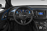 Car pictures of steering wheel view of a 2015 Chrysler 200 S 4 Door Sedan 2WD Steering Wheel