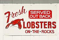 Fresh lobster sign, Maine, USA