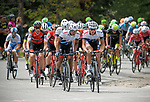 August 11, 2017 - Breckenridge, Colorado, U.S. -   The main peloton near the top of the difficult Moonstone climb during the second stage of the inaugural Colorado Classic cycling race, Breckenridge, Colorado.
