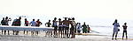 TEAMS AND OBSERVERS ON BEACH AT SEA OF CORTEZ