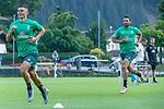 04.07.2019, Parkstadion, Zell am Ziller, AUT, TL Werder Bremen - Tag 00<br /> <br /> im Bild / picture shows 1. Training im TL Zillertal am Mittwoch abend<br /> <br /> Niclas Füllkrug / Fuellkrug (Neuzugang Werder Bremen #11)<br /> Claudio Pizarro (Werder Bremen #14)<br /> Foto © nordphoto / Kokenge