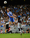 SO KON PO, HONG KONG - JULY 30: Frank Lampard of Chelsea and Nathan Albrigton of Aston Villa jump for the ball during the Asia Trophy Final match at the Hong Kong Stadium on July 30, 2011 in So Kon Po, Hong Kong.  Photo by Victor Fraile / The Power of Sport Images
